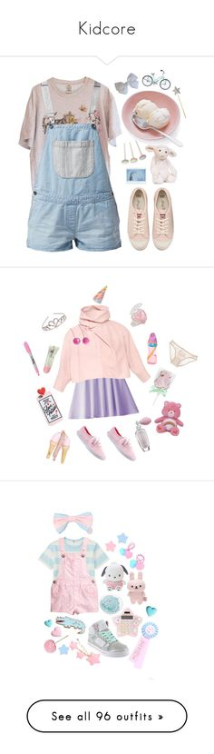 """Kidcore"" by bedtime-bear ❤ liked on Polyvore featuring Vans, Juicy Couture, Jellycat, J.W. Anderson, Keds, P.S. from Aéropostale, Tarina Tarantino, STELLA McCARTNEY, Sharpie and Monsoon"