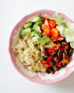 Burrito bowl haricots rouges