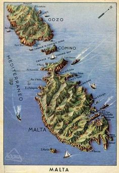 It's Malta with mountains! A rare 1930s postcard of the Maltese Islands circulated in Italy makes Malta look more like the Alps