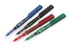Pilot V7 Hi-Tecpoint Cartridge System Roller Ball Pen - Medium Point - Blue
