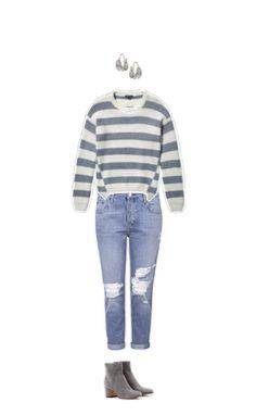 Wie findest du mein Outfit? Ohrringe #Topshop Pullover #Whistles Jeans #Topshop Stiefeletten #GianvitoRossi