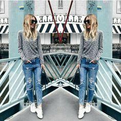 Calça boyfriend combinada com suéter e tênis branco deixa o look urbano mas estiloso ideal para enfrentar o final de semana gelado! Quem gosta?!👍 #meinspirastyle #comfy #conforto #fashion #styleinspira #styleit #inspiration #getinspired #pinterest #meinspiraporfavor