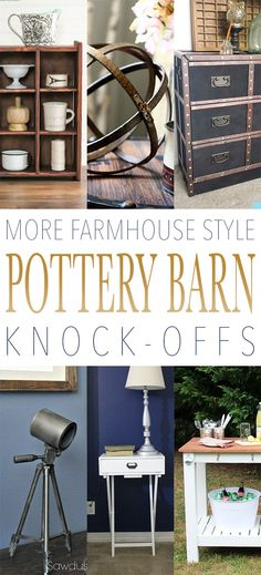 Oh I do believe you are in for a nice treat today!  We have a great collection of more Farmhouse Style Pottery Barn Knock-Offs that I know you are going to truly enjoy.  From beautiful side tables…to a Pottery Barn Inspired IKEA Rast Hack that is beyond amazing to Quick and Easy Pottery Barn Style …