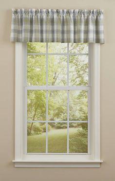 Hayslip Plaid Curtain Valance 72 x 14 Valances & Cornices, Window Cornices, Window Curtains, Curtain Valances, Plaid Curtains, Colonial Williamsburg, Country Farmhouse, Home Textile, Window Treatments