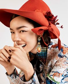 Photography: Josh Olins Styled by: Tabitha Simmons Hair: Esther Langham Makeup: Yumi Lee Model: Fei Fei Sun