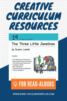 19 The Three Little Javelinas Book Card Creative Curriculum Teaching Strategies Book resources are a Teaching Strategies Gold, Learning Resources, Fun Learning, Pre K Activities, Classroom Activities, Classroom Ideas, Creative Curriculum, Homeschool Curriculum, Inclusion Classroom