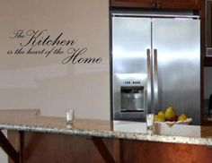 THE KITCHEN IS THE HEART OF Vinyl wall lettering sayings words decals art On Wall Decal Sticker(China (Mainland))