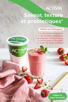 Strawberry Yogurt Smoothie, Fruit Smoothie Recipes, Yogurt Smoothies, Smoothie Drinks, Healthy Smoothies, Healthy Snacks, Yummy Drinks, Delicious Desserts, Yummy Food