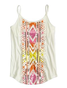 Tribal Embellished Cami | Camis | Clothes | Shop Justice