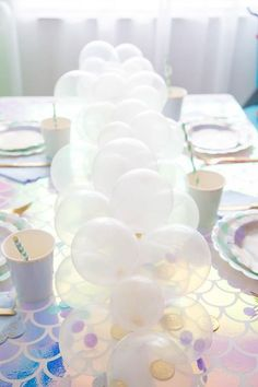 Dress Up a Mermaid Party With This Adorable Scaled Tabletop!