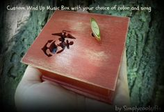 Marines music box music box gift for Marine by Simplycoolgifts Wooden Music Box, Wooden Boxes, Marine Gifts, Semper Fidelis, Marine Mom, Up Music, Music Boxes, Men Stuff, Cool Stuff
