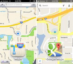 Google Maps vs Apple Maps hands-on to the airport