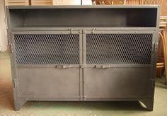 Grey Metal Sideboard by Like That One, via Flickr
