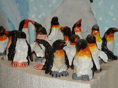 Elementary Art Lesson ceramic clay penguins 5th grade
