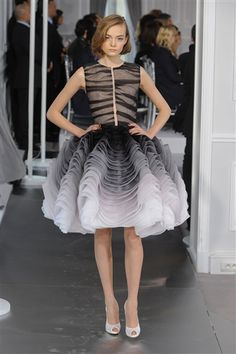 The skirt on this is just divine -- Christian Dior 2012 Spring Couture Collection
