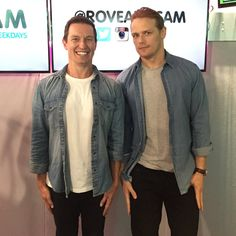 Here are NEW pics of Sam Heughan at Rove and Sam Radio Show More after the jump!