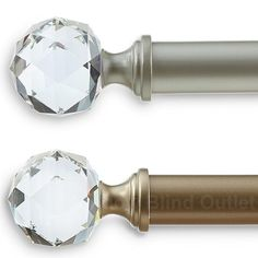 Crystal Jewel Curtain Rod - Three Sizes - Two Colors