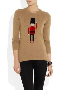 Burberry Prorsum|Intarsia cashmere sweater|NET-A-PORTER.COM