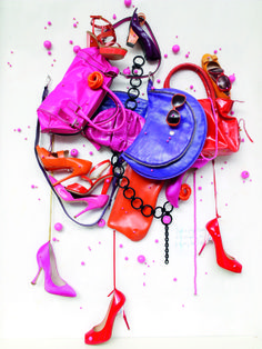 Photographer : Frederic Lebain - fashion composition -  graphic still life