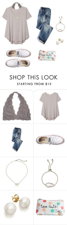 """⚪️⚫️"" by avazumpano ❤ liked on Polyvore featuring Olive + Oak, Converse and Kendra Scott"
