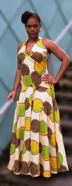 African print flow dress by Gitasportal2011 ~African Prints, African women dresses, African fashion styles, african clothing