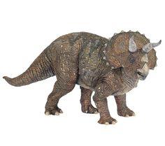 """Espectacular réplica de Triceratops de la marca Papo. Es el rey de los Dinosaurios """"Buenos"""", los herbívoros, los que no se comen a nadie ... y sólo comen hierba, es el Dinosaurio favorito de muchos niños. Alto: 12 cm Largo: 22 cm  Edad: a partir de 3 años Marca: Papo Ref. 30002 Precio: 15.00 € IVA incluido"""