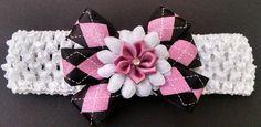 Baby Headband Flower Headband Purple by GloriaMillerCreation