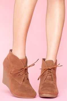 Desert Wedge Boot - Cocoa  $58.00  I have these in black and I got them at Target  for under $45!!