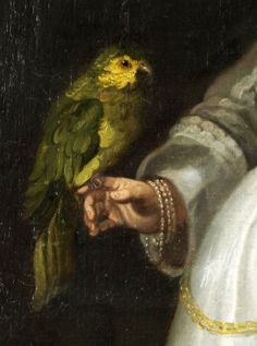 Netherlandish - Portrait of a Girl with a Parrot c. 1640 (Detail)