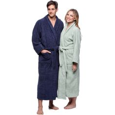 Simple Elegance Superior Collection Luxurious Egyptian Cotton Unisex Terry Bath Robe Size X-Large in Black(As Is Item) (X-Large Black) Bath Robes For Women, Cloth Belt, Peignoir, Linen Store, Ideal Fit, Egyptian Cotton, How To Wear, Clothes, Collection