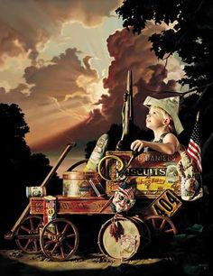 """Fireworks Tonight.... by Bob Byerley.... $210.00 Limited edition of 350 signed and numbered prints. Image size, 30"""" x 24"""". shipping included in price"""