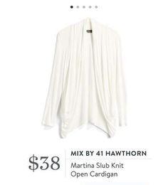 Stitch Fix: Mix by 41 Hawthorn Martina Slub Knit Open Cardigan $38