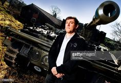 Stephen Morris of Joy Division and New Order poses for private portrait session with one of his collection of tanks, an Abbot Self Propelled Gun on May 19, 2009 in Manchester, England.