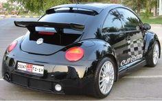 Black V W Beetle Vw Beetle Turbo, Volkswagen New Beetle, Audi Gt, Black Beetle, Vw Fox, Slammed Cars, 1967 Mustang, Vw Cars, Love Car