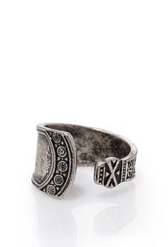 Engraved Open Ring | Forever 21 - 1000096767