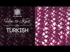 How to Knit the Turkish Stitch