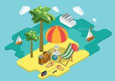 Ocean Cruise Summer Vacation Concept