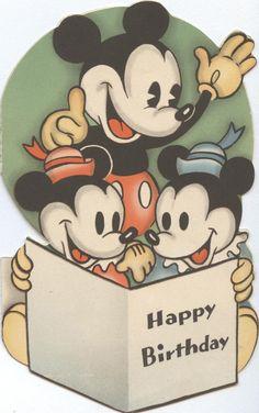 5 B 154: Mickey Mouse birthday card