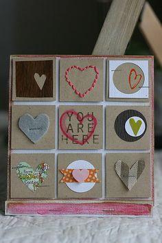 des coeurs dans des carrés
