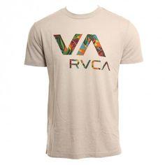 RVCA Mens Shirt Jungle VA Cool Gray