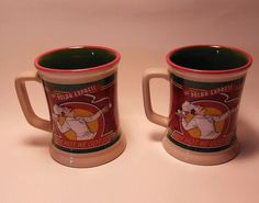 The Polar Express Coffee Mug Cup Set of 2 Chef Warner Bros in Collectibles, Decorative Collectibles, Mugs, Cups | eBay