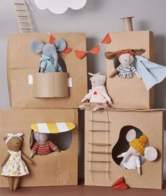 Projects For Kids, Diy For Kids, Crafts For Kids, Cardboard Toys, Wooden Toys, Wooden Crafts, Toddler Toys, Toddler Activities, Diy Toys
