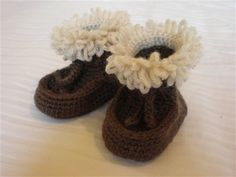Free Crochet Moccasin Style Baby Boots Pattern.