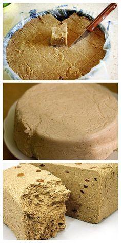 This halva - a recipe that will be . - Projekty do wypróbowania - Tortellini Homemade Ramen, Homemade Fudge, Cake Recipes, Dessert Recipes, Russian Recipes, Saveur, Holiday Recipes, Gourmet, Gastronomia