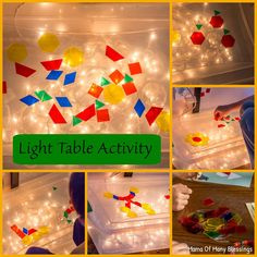 This month we used our translucent shapes for a fun light table activity for our Mother Goose Time Curriculum. Light Table For Kids, Diy Light Table, Sensory Activities, Activities For Kids, Sensory Bins, Sensory Play, Classroom Activities, Classroom Ideas, Shapes For Kids