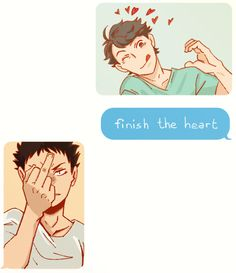 Oikawa and Iwaizumi. Oikawa is such a dork (an adorable dork) :)