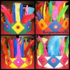 Native american crafts for kids Anniversaire Cow-boy, Native American Projects, Art For Kids, Crafts For Kids, Thanksgiving Preschool, Indian Crafts, Rainbow Crafts, Cowboys And Indians, Spring Crafts