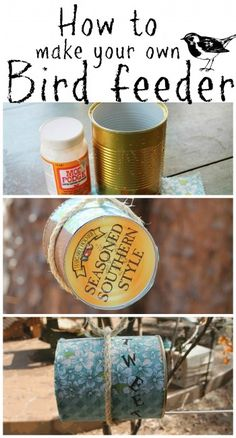 How to make your own bird feeder from a #recycled can. #modpodge