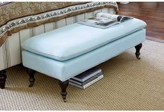Grayson Upholstered Bench - traditional - bedroom benches - - by Ballard Designs  Recovered for Fred's closet?