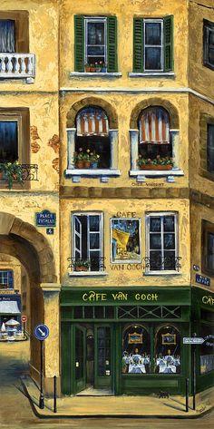Cafe Van Gogh Paris Painting  - Cafe Van Gogh Paris Fine Art Print